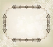Vintage border frame and background Stock Photo