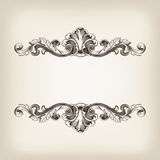 Vintage border frame calligraphy engraving baroque vector Stock Images