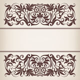 Vintage border frame decorative ornate calligraphy vector stock illustration