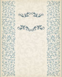 Vintage Border Frame Decorative Ornate Calligraphy Vector Stock Image