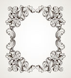 Vintage border frame engraving baroque vector