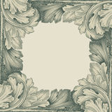 Vintage border frame engraving retro pattern