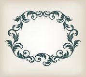 Vintage border frame ornament calligraphy vector Stock Photo