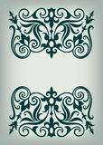 Vintage Baroque Victorian frame border monogram floral ornament  scroll engraved retro pattern tattoo calligraphic vector heraldic Stock Photo