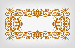 Vintage border frame ornate calligraphy vector Stock Photography