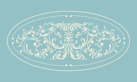 Vintage border frame with retro ornament Royalty Free Stock Images