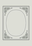 Vintage border frame with retro  pattern Stock Image