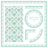 Vintage Border Pattern 367 Cross Leaf Vine Flower Royalty Free Stock Images