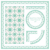 Vintage Border Pattern 403 Round Cross Flwoer Royalty Free Stock Photo