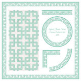 Vintage Border Pattern 415 Squre Chain Cross Geometry. Antique retro abstract seamless pattern frame and background can be used for wallpaper, web page Stock Photography