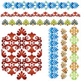 Vintage border set 01. Studied patterns of the eastern border of traditional ottoman set royalty free illustration