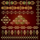Vintage border set. The eastern border of traditional ottoman set of patterns Stock Photo