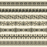 Vintage border set for design Stock Photo