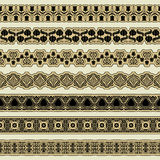 Vintage border set for design Stock Image