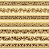 Vintage border set for design Stock Images
