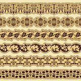 Vintage border set for design Stock Photos