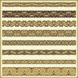 Vintage border set for design Royalty Free Stock Photography
