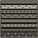 Vintage border set for design Royalty Free Stock Photo