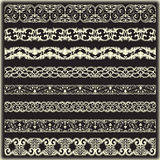 Vintage border set for design Royalty Free Stock Image