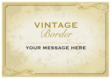 Vintage Border Template Stock Images