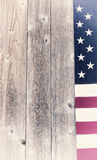 Vintage border of USA flag on rustic wooden boards Royalty Free Stock Photography