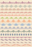 Vintage border, vector set Stock Image