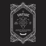 Vintage border western label antique frame engraving retro Stock Image