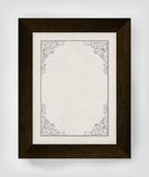 Vintage border with wooden frame. Royalty Free Stock Image
