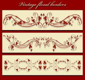Vintage borders Stock Images