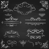 Vintage borders calligraphic set Royalty Free Stock Photography