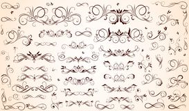 Vintage borders. Collection of vintage borders and headers royalty free illustration