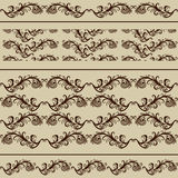 Vintage Borders and Seamless Patterns Royalty Free Stock Photography