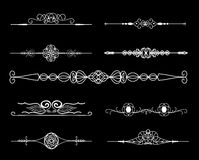 Vintage borders. Set of calligraphic  vector dividers Royalty Free Stock Photos