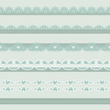 Vintage borders. Set of hand-drawn Lace Paper Punch Borders stock illustration