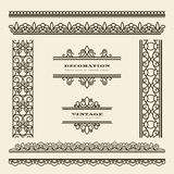 Vintage borders. Set of vintage ornamental borders and dividers Stock Photos