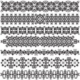 Vintage borders. Studied the eastern border set of antique patterns Stock Photo
