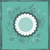 Vintage botanical frame in turquoise Stock Photos