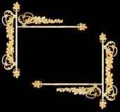 Vintage botanical metalwork as frame, sign Royalty Free Stock Image