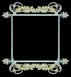 Vintage botanical metalwork as frame, sign Royalty Free Stock Photography