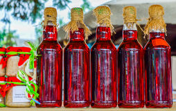 Vintage Bottle. Of Red liquid Royalty Free Stock Images
