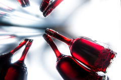 Vintage bottle of red wine Royalty Free Stock Photos