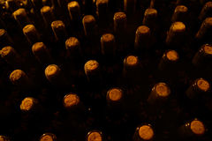 Vintage bottles in the wine cellar Stock Photos