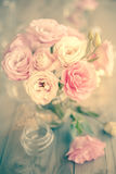 Vintage Bouquet of beautiful pink flowers Royalty Free Stock Photography