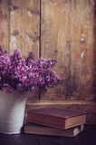 Vintage Bouquet of lilac flowers Stock Photography
