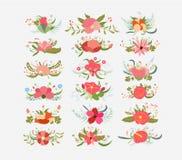 Vintage Bouquets flower bundle Stock Photo