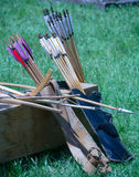 Vintage Bow and Arrows Stock Photos