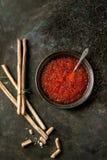 Bowl of red caviar Royalty Free Stock Photos