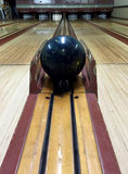Vintage Bowling Alley with Ball Stock Photos