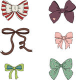 Vintage bows Stock Photography