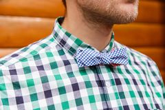 Vintage bowtie and shirt Stock Photos